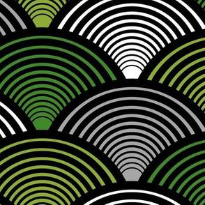 Fan Pattern Green Large