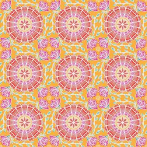 Batik Flower in Orange