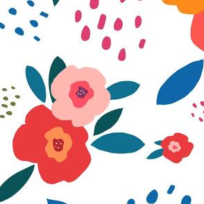 Poppy Flower Cut Out - Jumbo, White