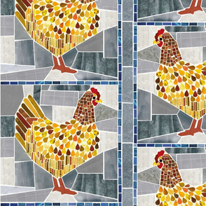 Chicken Tile Mosaic
