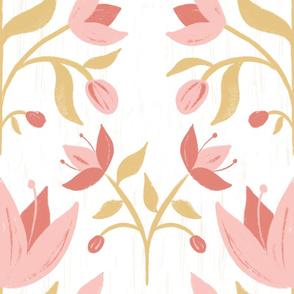 Textured Rustic Folk Floral