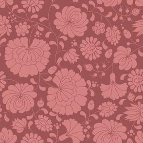 Hungarian Folk Flowers Pink