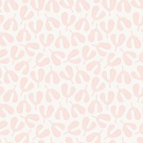 Seedling - Block Print   Whisper Pink + Cream