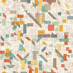 geometrical color blocks