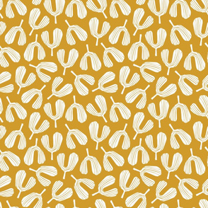 Seedling - Block Print | Golden Yellow