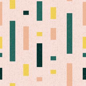 Pink Modern Blocks Textured Large