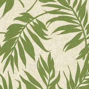 Vintage Palms Hawaiian Tropical Design- Sage Green