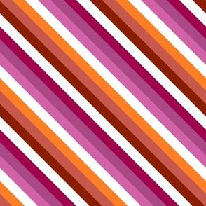 Lesbian Pride Stripe Diagonal