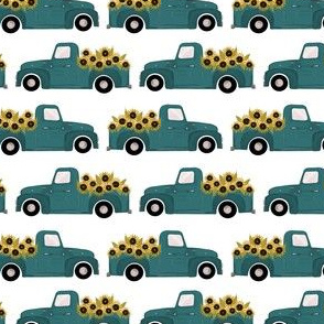 Vintage Sunflower Truck B|Country Girl|Renee Davis