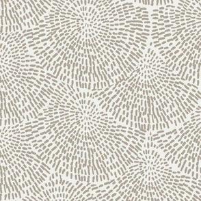 handdrawn scallop fabric - coordinate fabric, muted nursery fabric - sfx0906 taupe