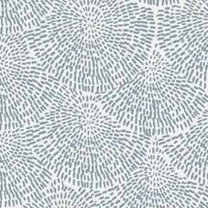 handdrawn scallop fabric - coordinate fabric, muted nursery fabric -sfx4013 denim