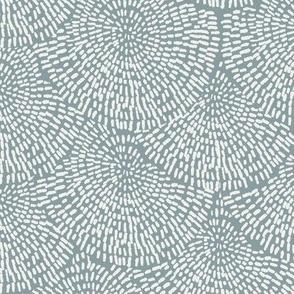 handdrawn scallop fabric - coordinate fabric, muted nursery fabric - sfx4408 slate