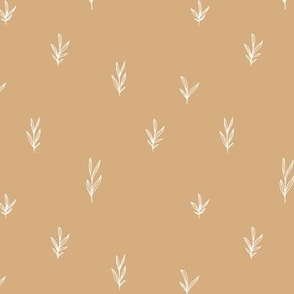 Little boho garden minimal delicate branch grass spring summer Scandinavian neutral nursery ginger yellow