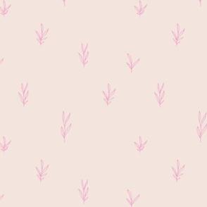 Little boho garden minimal delicate branch grass spring summer Scandinavian neutral nursery beige off white pink