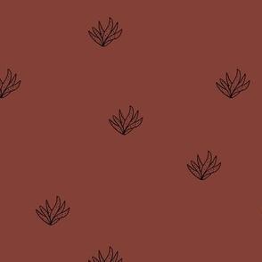 Aloe vera succulent boho garden minimal Scandinavian style plants abstract modern nursery stone red brown