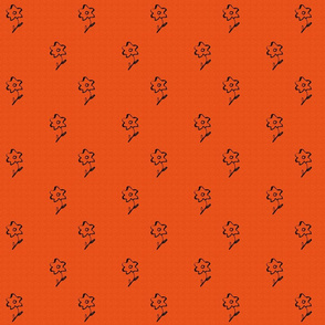 Textured Flowers Orange