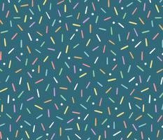 Rainbow Sprinkles on Blue - Large
