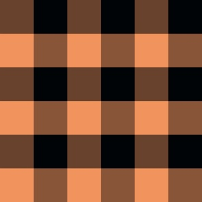 Country persimmon and black big plaid