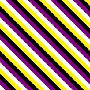 Enby Pride Stripe Diagonal