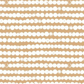 String of dots raw abstract ink spots minimal Scandinavian style neutral nursery ginger yellow white