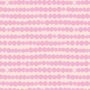 String of dots raw abstract ink spots minimal Scandinavian style neutral nursery beige sand pink