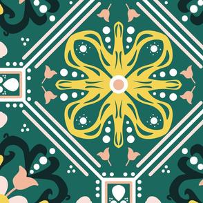 Teal Morocco Tiles