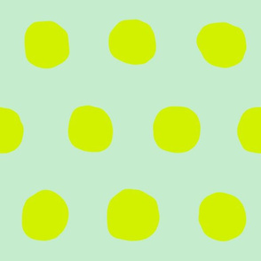 Jumbo Dots in mint/neon