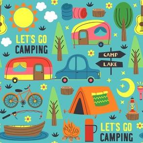 Retro Camping Vintage Camper