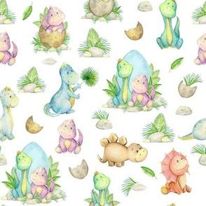 "Dinosaur Friends – Kids Fabric, 8"" repeat"