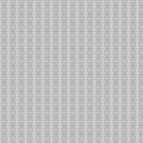 JP2 -Buffalo Plaid Diamonds on Stripes in Grey Monochrome