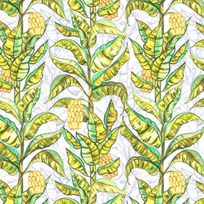 Golden Gouache Banana Trees (Small Version)