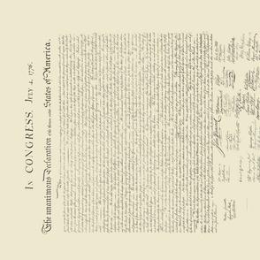 "17x21""  sideways Fat Quarter-sized Declaration of Independence"