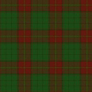 """Ulster district tartan, 2"""" red - muted"""