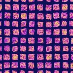 batik square grid in Bob's colors