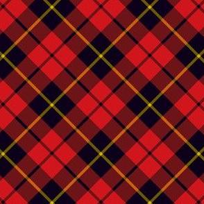 "Wallace clan tartan, 2"" diagonal"