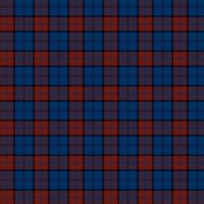 "Dunbar tartan, 1"" dark red/blue"