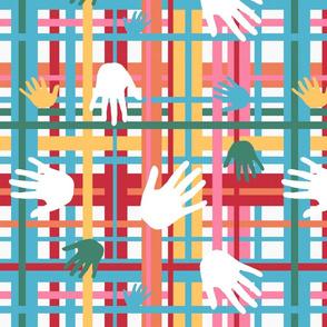 Nugget Plaid Hands Coordinate