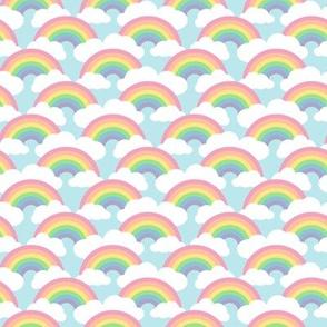 small circle rainbow - pastel