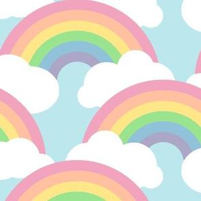 large circle rainbow  - pastel