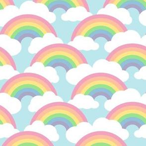 medium circle rainbow - pastel