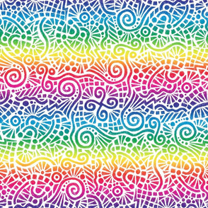"rainbow batik doodles (rainbow has 8"" repeat)"