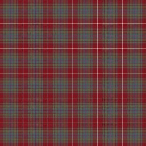 "Fraser red gathering weathered tartan, 1"" **see note**"