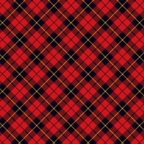 "Wallace clan tartan, 1"" diagonal"