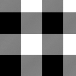 "5"" Buffalo Check (wallpaper 6"")- black and white"