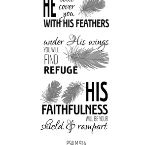 """He will cover you with His feathers (half-yard of 58"""" wide fabrics)"""