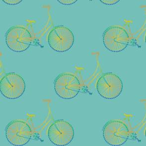 "circus pi-cycle on aqua (~8"")"