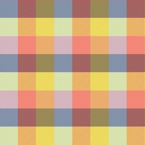 """simple 1""""madras - spring quilt pink"""