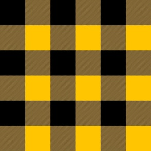 "3"" buffalo check - black and bright yellow"