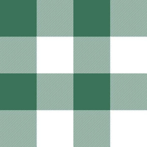 """1930s soft green and white 2"""" check"""