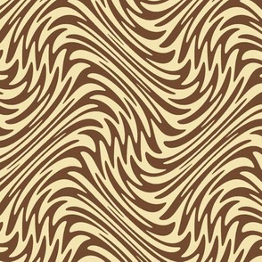 Small feather swirl in brown and cream